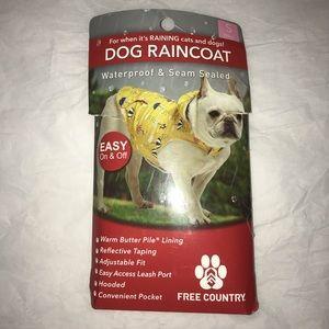 Free Country Small Dog Raincoat Yellow